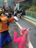 Little E meeting Goofy